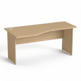 Íróasztal, íves, balos, laplábbal, 160x80 cm, MAYAH