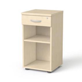 Szekrény, asztalmagas, fiókos, nyitott polcos, MAYAH