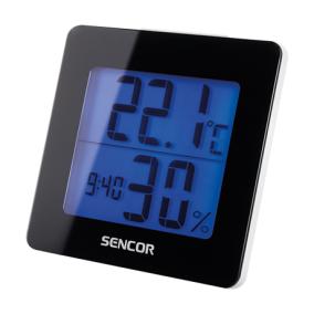Hőmérő ébresztőórával, Sencor SWS1500B, fekete