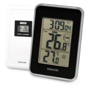 Hőmérő vezeték nélküli hőérzékelővel, Sencor SWS25BS