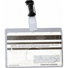 Azonosítókártya tartó, csiptetővel, 90x60 mm, műanyag, FELLOWES [50 db]