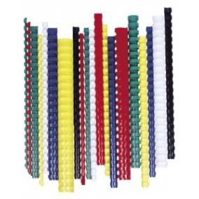 Spirál, műanyag, 8 mm, 21-40 lap, FELLOWES, 100 db, piros [100 db]