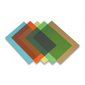 Előlap, A4, 200 mikron, FELLOWES, átlátszó, zöld [100 db]