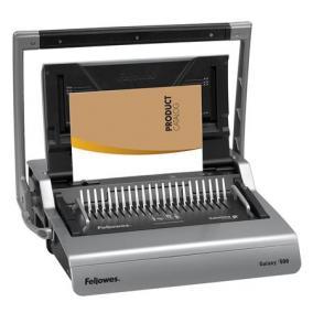Spirálozógép, műanyag spirálkötéshez, manuális, 500 lap, FELLOWES