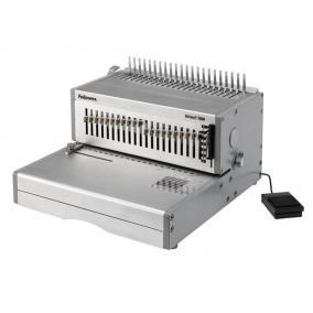 Spirálozógép, műanyag spirálkötéshez, elektromos, 500 lap, FELLOWES