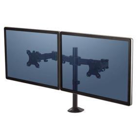 Monitortartó kar, két monitorhoz, FELLOWES,