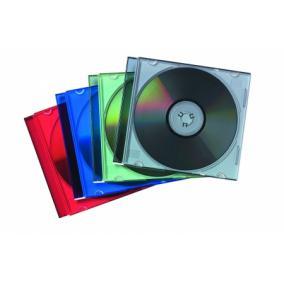 CD-tok, vékony, 1 lemez, FELLOWES, átlátszó [25 db]