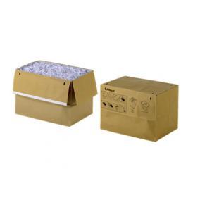 Hulladékgyűjtő zsák, 50 l, környezetbarát, REXEL, barna [50 db]