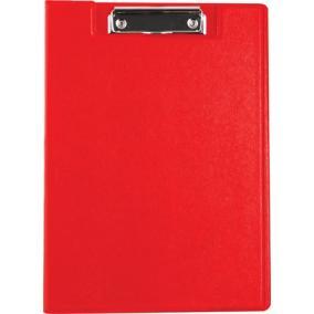 Felírótábla, fedeles, A4, zsebes, VICTORIA, piros