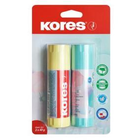 Ragasztóstift, pasztell színű tokban, 2x40 g, KORES, vegyes színek [2 db]