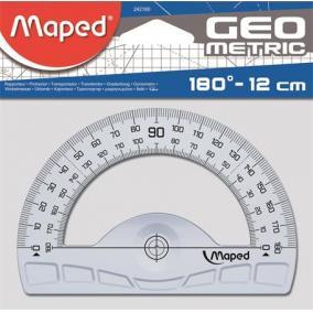 Szögmérő, műanyag, 180°, MAPED