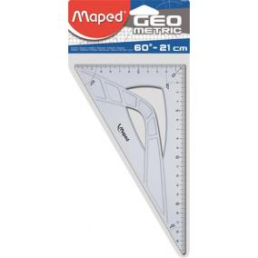 Háromszög vonalzó, műanyag, 60°, 21 cm, MAPED