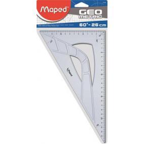 Háromszög vonalzó, műanyag, 60°, 26 cm, MAPED
