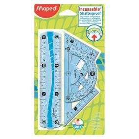 Vonalzókészlet, kicsi, műanyag, hajlítható, 4 darabos, MAPED