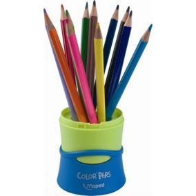 Színes ceruza készlet, háromszögletű, összecsukható tartó, MAPED
