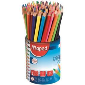 Színes ceruza készlet, háromszögletű, ceruzatartó, MAPED