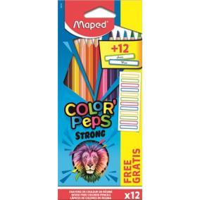 Színes ceruza készlet, háromszögletű, MAPED,