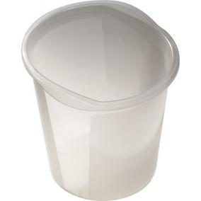 Szemetes, 13 liter, HELIT Economy, áttetsző fehér