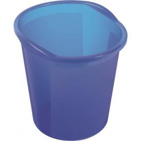 Szemetes, 13 liter, HELIT Economy, áttetsző kék