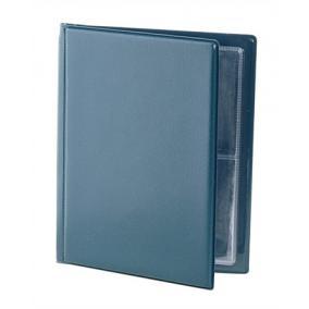 Névjegytartó, 32 db-os, VICTORIA, kék