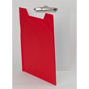 Felírótábla, fedeles, A4, PANTAPLAST, piros-fehér