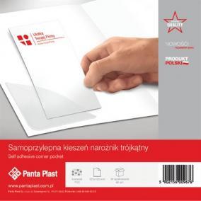 Sarokzseb, 120x120 mm, öntapadó, PANTA PLAST [48 db]