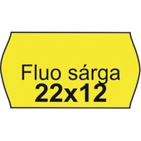 Árazószalag, 22x12 FLUO citrom [10 tek]