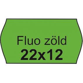 Árazószalag, 22x12 FLUO zöld [10 tek]