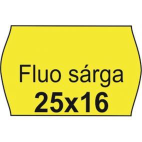 Árazószalag, 25x16 FLUO citrom [10 tek]