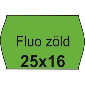 Árazószalag, 25x16 FLUO zöld [10 tek]