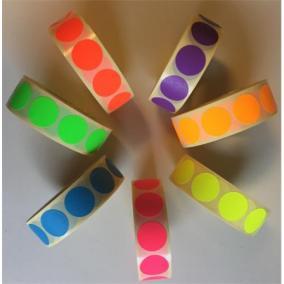 Etikett, 20 mm kör, 1000 etikett/tekercs, lila [1000 db]
