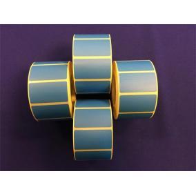 Etikett, thermo, 25x45 mm, 1000 etikett/tekercs, kék