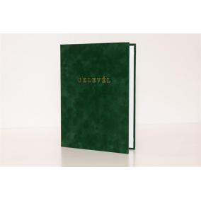 Oklevéltartó, A4, exkluzív, aranyozva, zöld