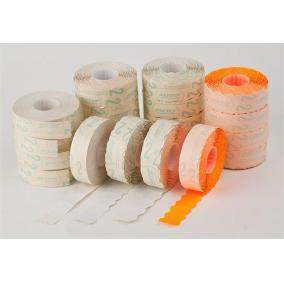 Árazógépszalag, 22x16 mm, METO, narancs [5 tek]
