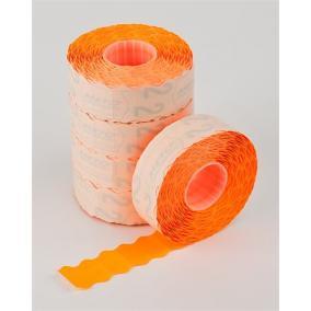 Árazógépszalag, 22x12 mm, METO, narancs [5 tek]