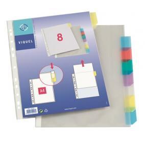 Genotherm, lefűzhető, jelölőfüles, A4, 90 mikron, víztiszta, 8 részes, VIQUEL [8 db]