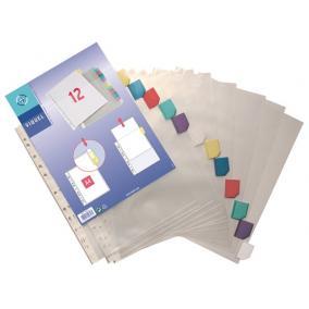 Genotherm, lefűzhető, jelölőfüles, A4, 90 mikron, víztiszta, 12 részes, VIQUEL [12 db]