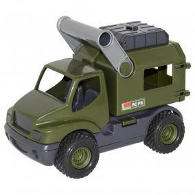 Játék katonai furgon, 24 cm