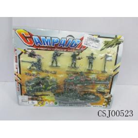 Játék katonai szett, különböző figurákkal, járművekkel