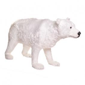Jegesmedve álló műanyag, textil 100 cm x 36 cm x 60 cm fehér