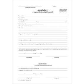 Jegyzőkönyv a fogyasztó minőségi kifogásáról 25x3, A5 B.13-233