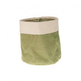 Jutazsák béléssel 20x20x20 cm zöld