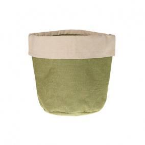 Jutazsák béléssel 25x25x25cm zöld