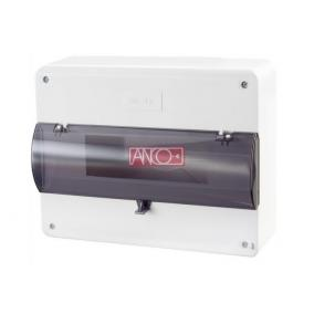 ANCO Falonkivüli biztosítéktábla, 12 modul