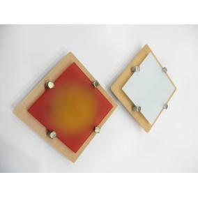 MELIA 16.5 cm 1xG9 40W 230V fa színes üveggel, fali / mennyezeti lampa