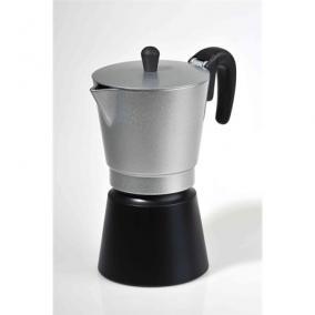 Kávéfőző kotyogós 4 személyes - Kalifa, KALIFA EZÜST-FEKETE