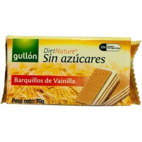 Nápolyi, cukormentes, 70 g, GULLON, vaníliás