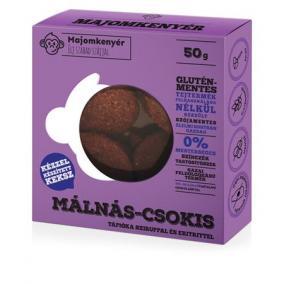 Keksz, paleo, 50 g, MAJOMKENYÉR, málnás-csokis