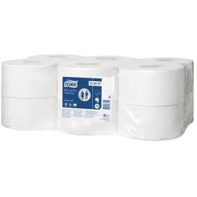 Toalettpapír, T2 rendszer, 2 rétegű, TORK