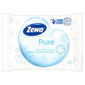 Toalettpapír, nedves, 42db, ZEWA, pure [42 db]